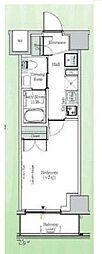 東京メトロ東西線 東陽町駅 徒歩23分の賃貸マンション 4階1Kの間取り