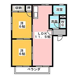 グランシャリオ B[2階]の間取り