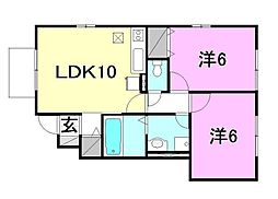 バリュアブルA・B・C・D・E棟[D103 号室号室]の間取り