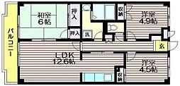 東京都世田谷区給田5の賃貸マンションの間取り