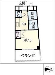 カーサヨサミ[1階]の間取り