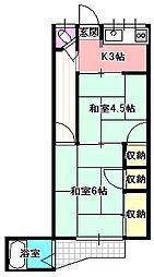 小林アパート平屋[1階]の間取り