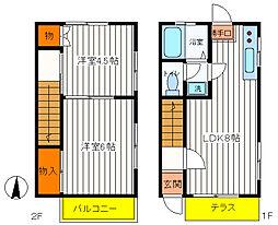 [テラスハウス] 東京都昭島市郷地町1丁目 の賃貸【/】の間取り