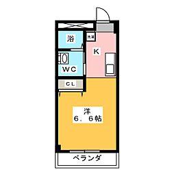 スミックスコーポ宝生[2階]の間取り