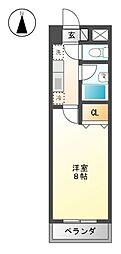 プレステージ35[1階]の間取り