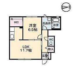 コンフォート A棟[105号室]の間取り