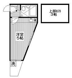バンドーム戸塚[1階]の間取り