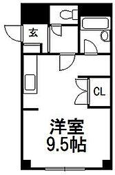 北海道札幌市白石区本郷通2丁目南の賃貸マンションの間取り