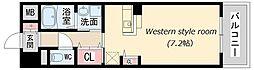 兵庫県伊丹市南本町2丁目の賃貸マンションの間取り