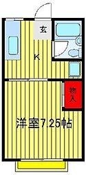 第2サンライズ[203号室]の間取り
