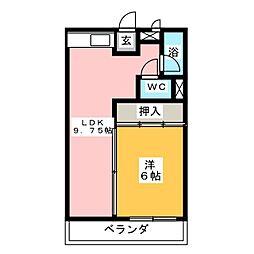 コーポ岡島[2階]の間取り
