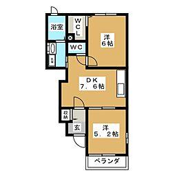ミルトフリーデII[-1階]の間取り