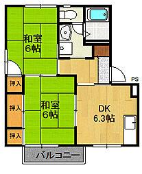 ラフォーレ21 H棟[1階]の間取り