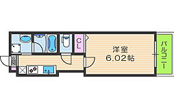 Kalmia北梅田[6階]の間取り