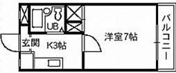 エトワール岡山[3階]の間取り