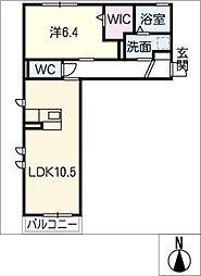 仮)DN−room折立[2階]の間取り