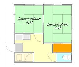 広島県廿日市市宮島口2丁目の賃貸アパートの間取り