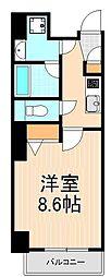 東京都台東区浅草2丁目の賃貸マンションの間取り