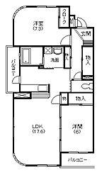 静岡県浜松市中区葵東3丁目の賃貸マンションの間取り