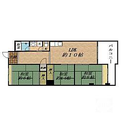 吹田サンクスハイツ2番館[8階]の間取り