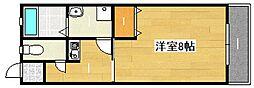 大阪府吹田市山手町3丁目の賃貸アパートの間取り