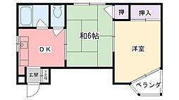 ELLE甲子園[303号室]の間取り