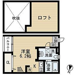 福岡県福岡市西区下山門3丁目の賃貸アパートの間取り