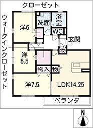 Lavender Hearts[1階]の間取り