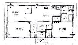 黒川貸家[1階]の間取り