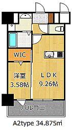 THE HILLS KOKURA[11階]の間取り