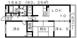 ソレーユ松村[201号室号室]の間取り