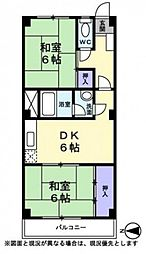 美笠マンション[3階]の間取り