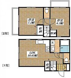 [テラスハウス] 東京都立川市一番町3丁目 の賃貸【/】の間取り