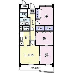和歌山県海南市大野中の賃貸アパートの間取り