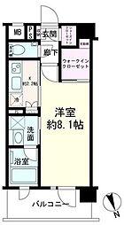 京急本線 黄金町駅 徒歩5分の賃貸マンション 5階1Kの間取り