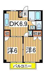 ニューシティ西平井[103号室]の間取り