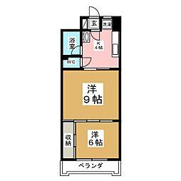 アーバンハイツ中野栄[3階]の間取り