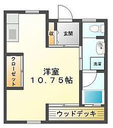 COURTM&MIII[1階]の間取り
