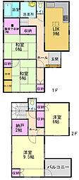 [一戸建] 兵庫県高砂市荒井町蓮池2丁目 の賃貸【/】の間取り