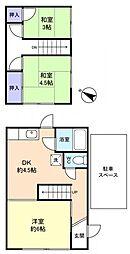 [テラスハウス] 千葉県八千代市高津0丁目 の賃貸【/】の間取り
