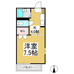 セフィーラ栗田[1階]の間取り