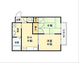 東本町ハイツ[1階]の間取り