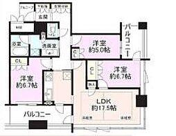 ローレルタワーサンクタス梅田[26階]の間取り