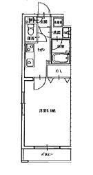JR宇野線 大元駅 徒歩9分の賃貸マンション 3階1Kの間取り