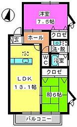 ティアラMI[2階]の間取り