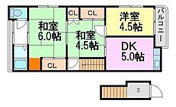 [一戸建] 兵庫県尼崎市水堂町4丁目 の賃貸【兵庫県 / 尼崎市】の間取り