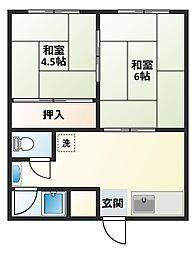 島崎アパート[101号室]の間取り