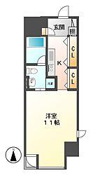 エヌエスジール泉(N.S.ZEAL[10階]の間取り