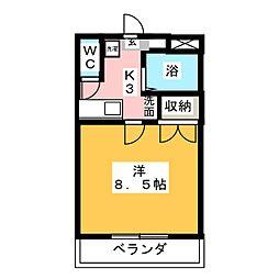 ピュア・グレース庭瀬[1階]の間取り