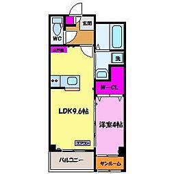 カーサフレンテ長江[1階]の間取り